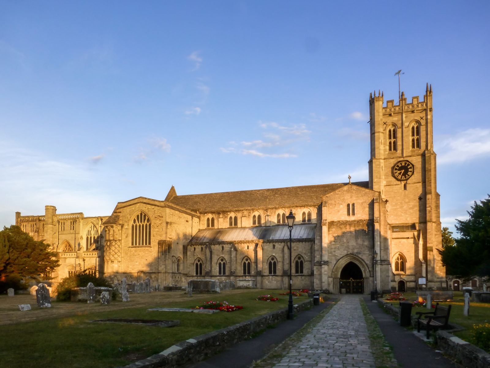 Evening light at Christchurch Priory, Dorset